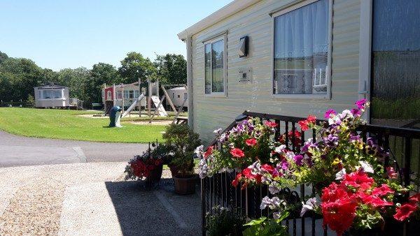 Caravan holiday homes @ Cenarth