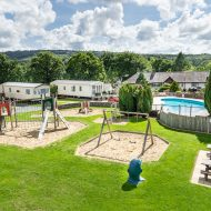 outdoor pool & play area