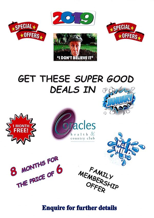 Coracles Special Offers 2019